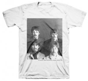 BEATLES WITH MUSTACHE T-SHIRT