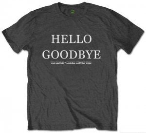 "BEATLES ""HELLO GOODBYE"" CHARCOAL T"