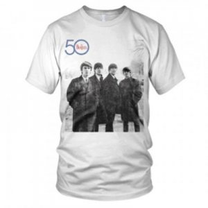EARLY BEATLES 50TH ANNIVERSARY T-SHIRT - XL