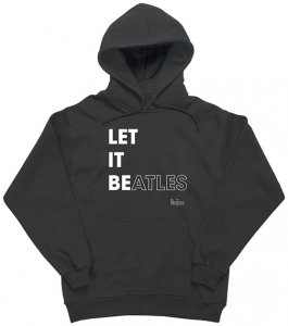 LET IT BEATLES IN BLACK & WHITE HOODIE