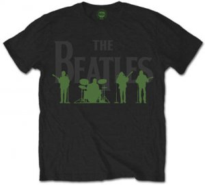 THE BEATLES LOGO WITH GREEN SHADOW T-SHIRT