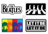 BEATLES IRON ON 4 PATCH SET