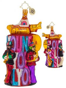 ALL YOU NEED IS LOVE TOWER GLASS ORNAMENT - Last Two