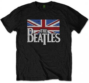 THE BEATLES DROP T LOGO/VINTAGE FLAG