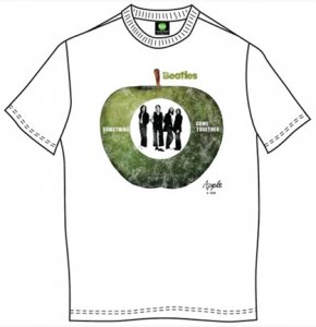 BEATLES APPLE SINGLE WHITE TEE