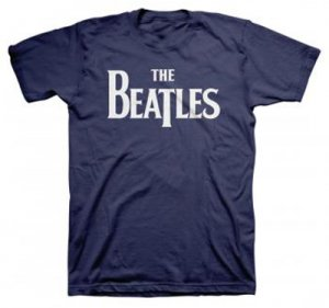 THE BEATLES NAVY LOGO TEE - Small - Last One