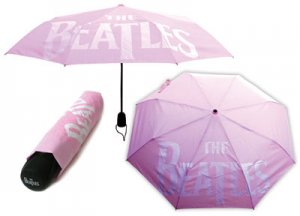 PINK BEATLES LOGO UMBRELLA