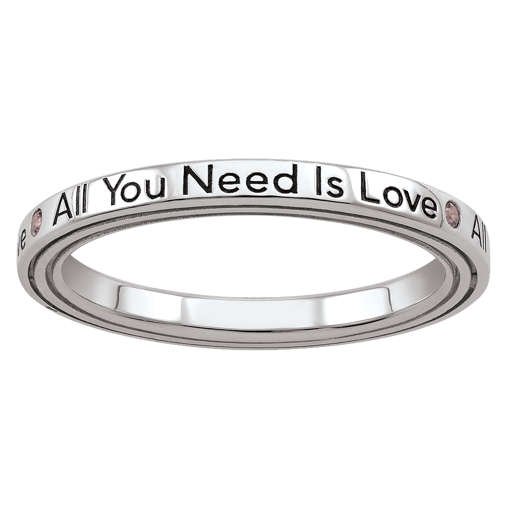 ALL YOU NEED IS LOVE STACK RING