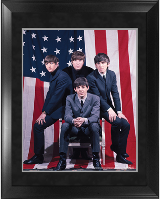 "BEATLES 1964 IMAGE 16"" x 20"" FRAMED PRESENTATION"
