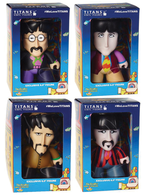 "YELLOW SUBMARINE TITAN 6 1/2"" VINYL FIGURES SET OF 4"
