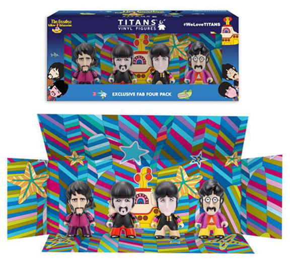 "YELLOW SUBMARINE TITAN 3"" VINYL FIGURES BOX SET OF 4"