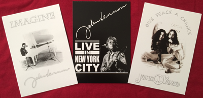 JOHN LENNON SET OF 3 POSTCARDS