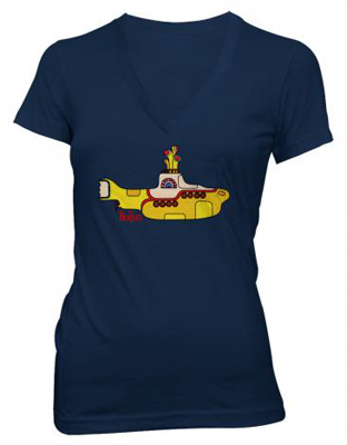 JR GIRLS YELLOW SUBMARINE V-NECK T