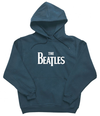 BEATLES LOGO DENIM BLUE HOODIE