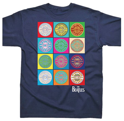 SGT. PEPPER DRUM LOGO MULTI IMAGE NAVY T