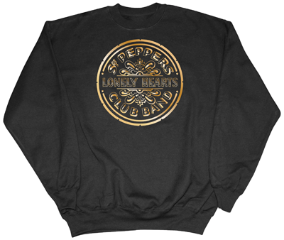 BEATLES SGT. PEPPER GOLD DRUM LOGO SWEATSHIRT