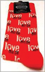 LOVE ME DO RED SOCKS-MEN'S