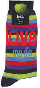 LOVE ME DO STRIPED WOMEN'S SOCKS