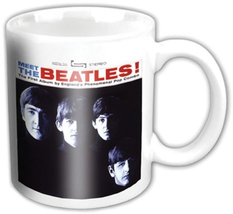 BEATLES RAISED DRUM LOGO MUG