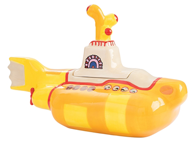 YELLOW SUBMARINE SCULPTED COOKIE JAR