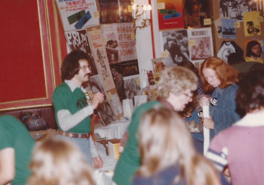 Mark Lapidos in the Giant International Beatles Marketplace – Chicago `77
