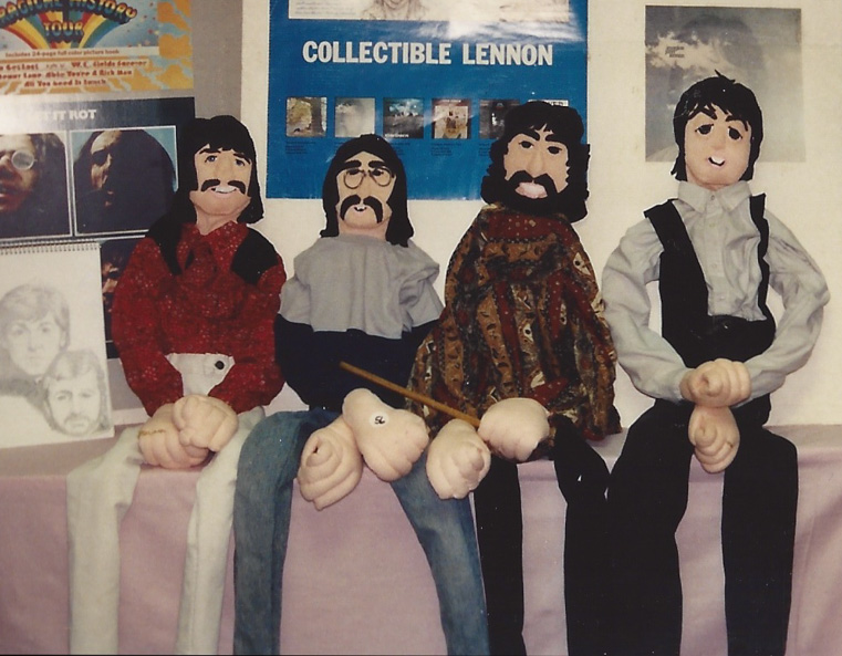 John, Paul, George, and Ringo in art form – N.J. `92