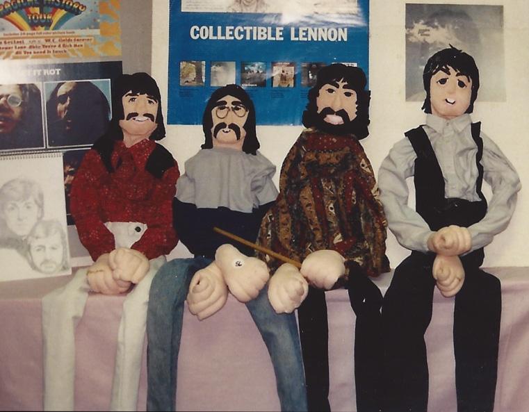 John, Paul, George, and Ringo in art form – N.J. `92