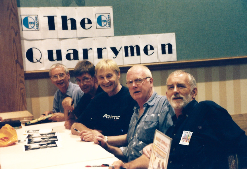Members of John Lennon's first band, The Quarrymen, have been guests on numerous occasions – N.J. `99