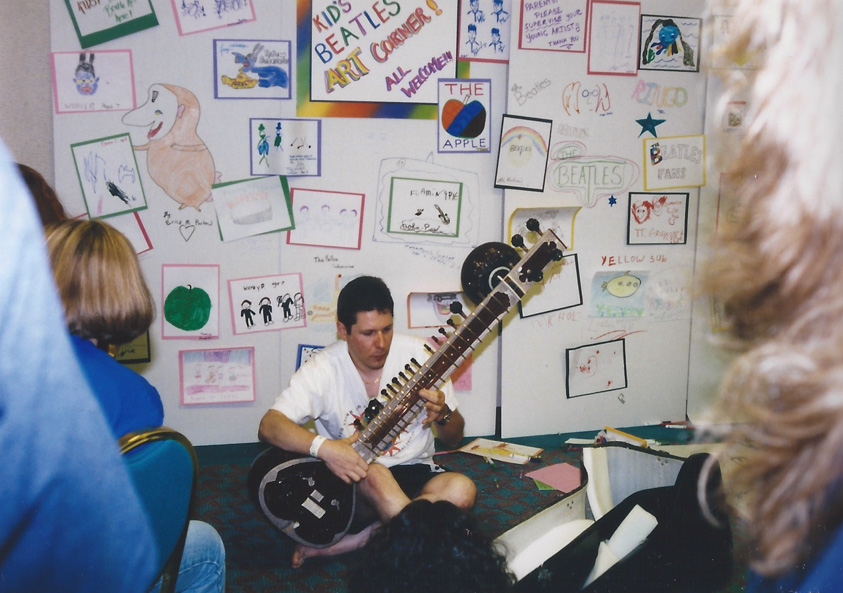 The sight of someone playing a Sitar is ordinarily a rare one.  At the FEST, it's commonplace – Chicago `98