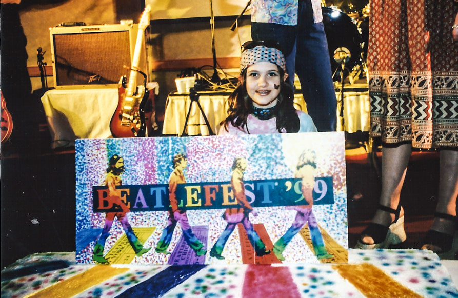 A young Beatlemaniac enjoying herself at the 25th anniversary of the FEST - N.Y. `99