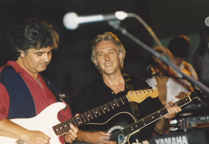 The stage at the FEST - usually a good place to find a couple of Wings, like Laurence Juber and Denny Laine - Chicago `95