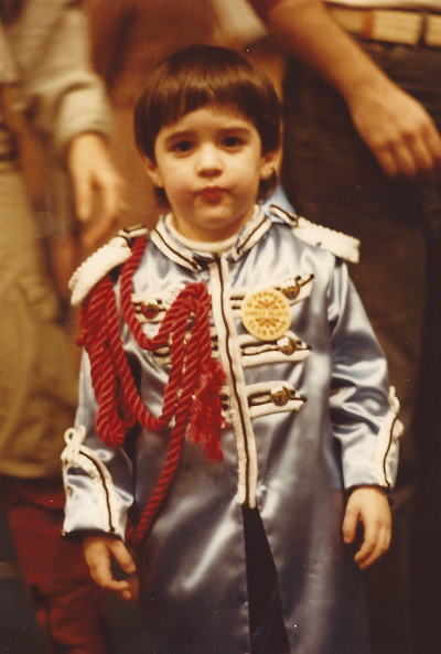What might Paul McCartney have looked like if he dressed up in his Sgt. Peppers outfit when he was 4 years old?  Perhaps something like this - N.Y. `78