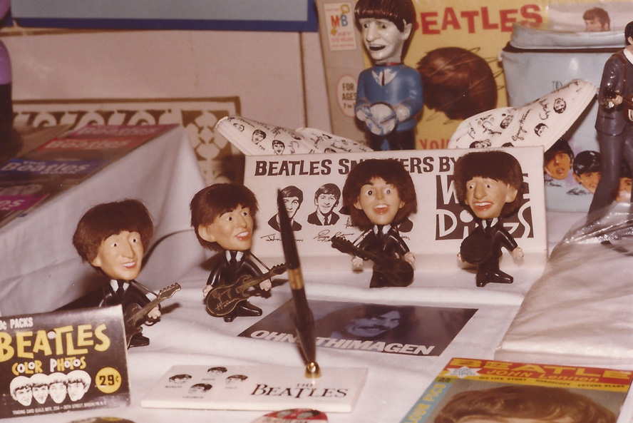There was awesome memorabilia available at the Giant International Beatles Marketplace in the 70s.  The times have changed since then, but the awesome assortment of Beatles merchandise hasn�t - Chicago `79