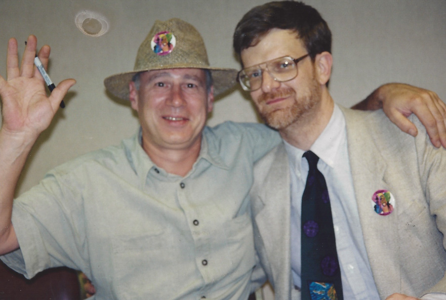 Neil Innes and Wally Podrazik pal around - Chicago `94