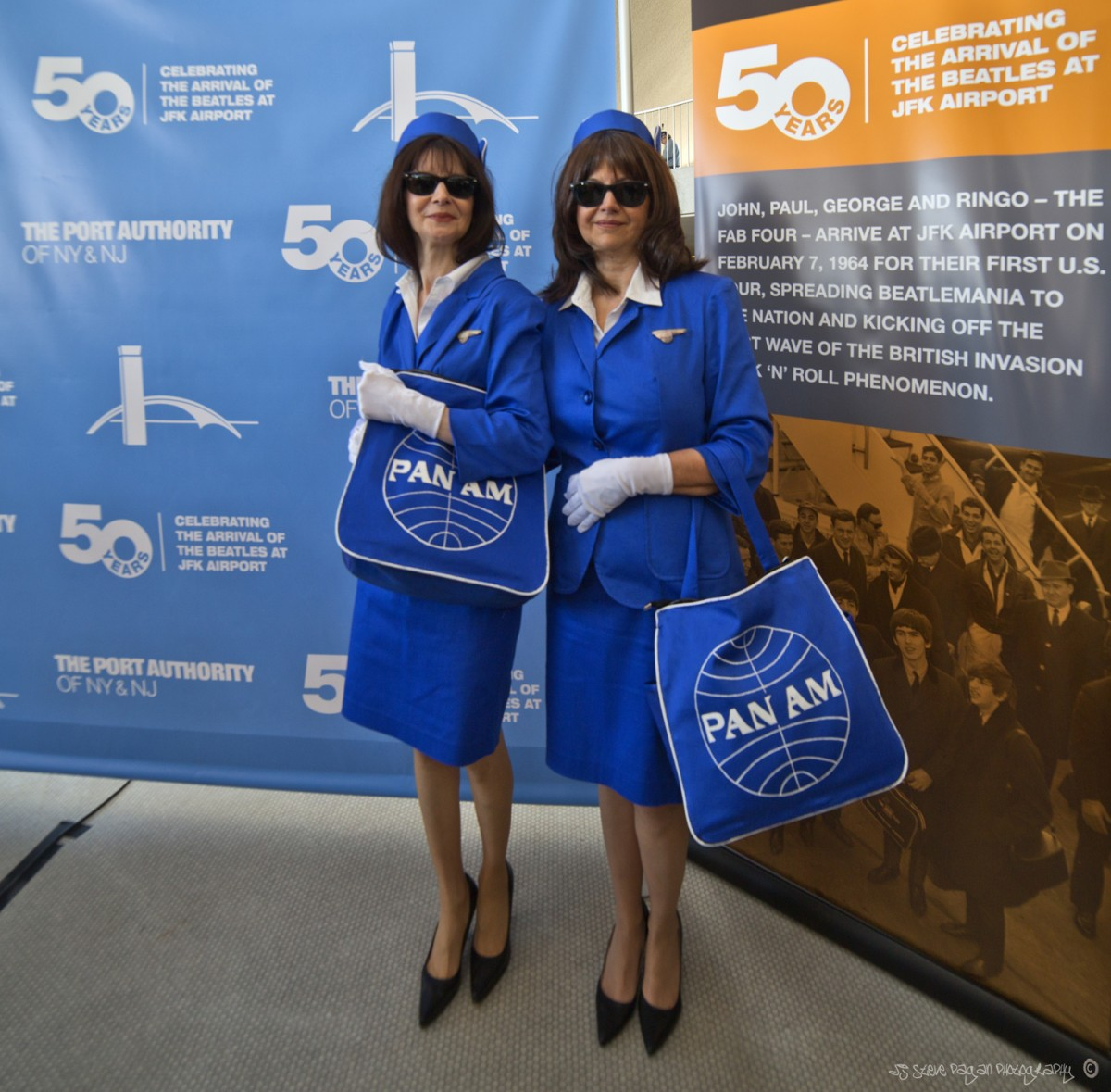 Two original Pan-Am stewardesses stopped by for the occasion.