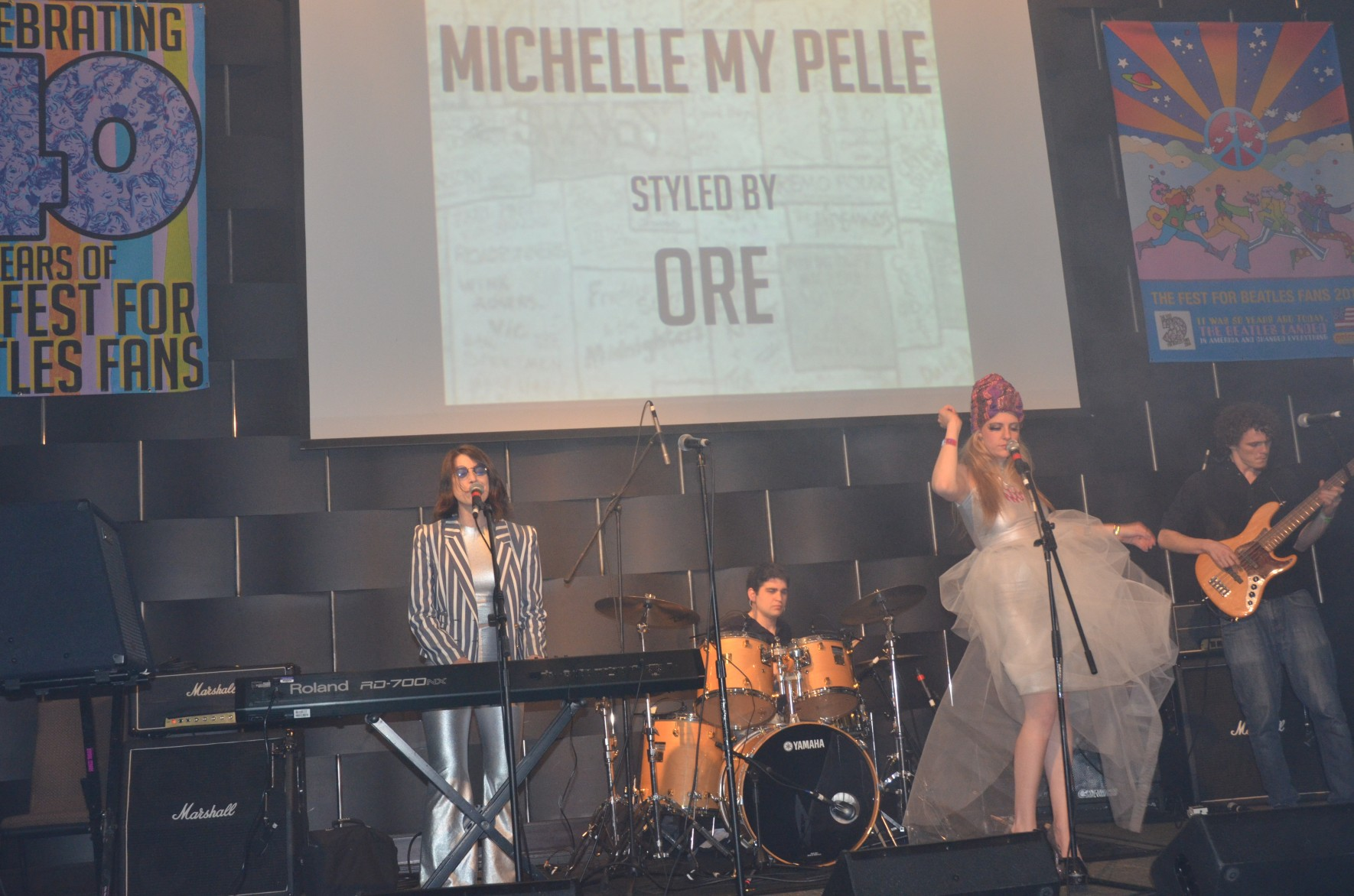 One of the new attractions at NYC Fest 14 was The Cavern, our second ballroom. Michelle My Pelle was one of many groups who took to the stage on Friday night.