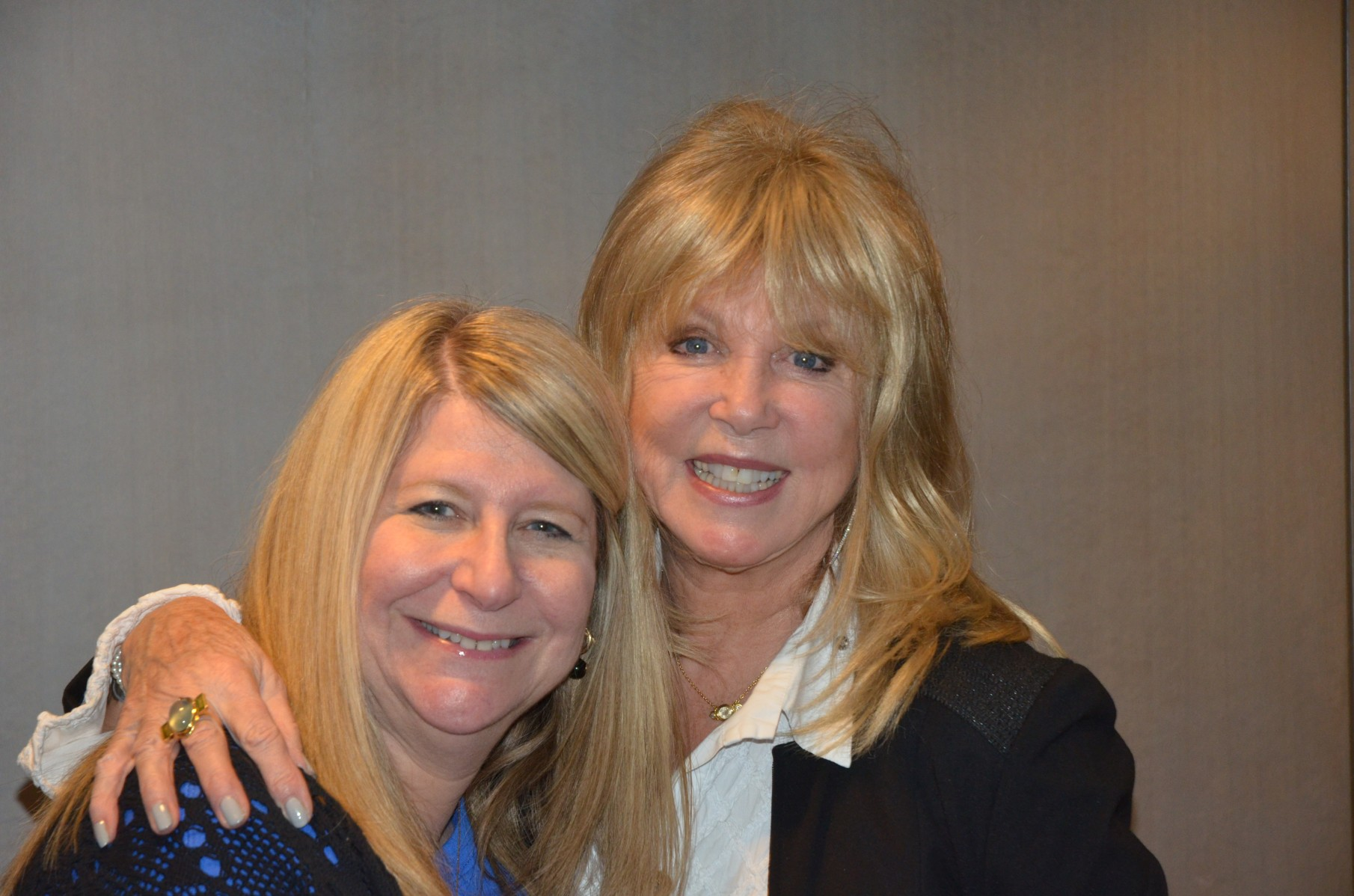 The wonderful Pattie Boyd, who was a surprise guest on Saturday, poses with Carol Lapidos.