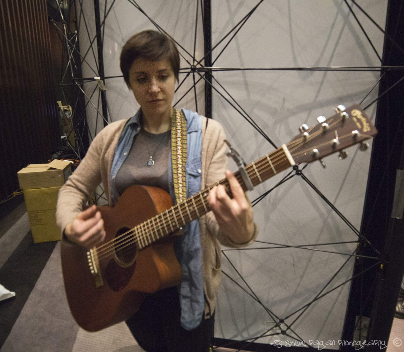 Critically acclaimed singer-songwriter Laura Stevenson preps for her Saturday set in The Cavern.