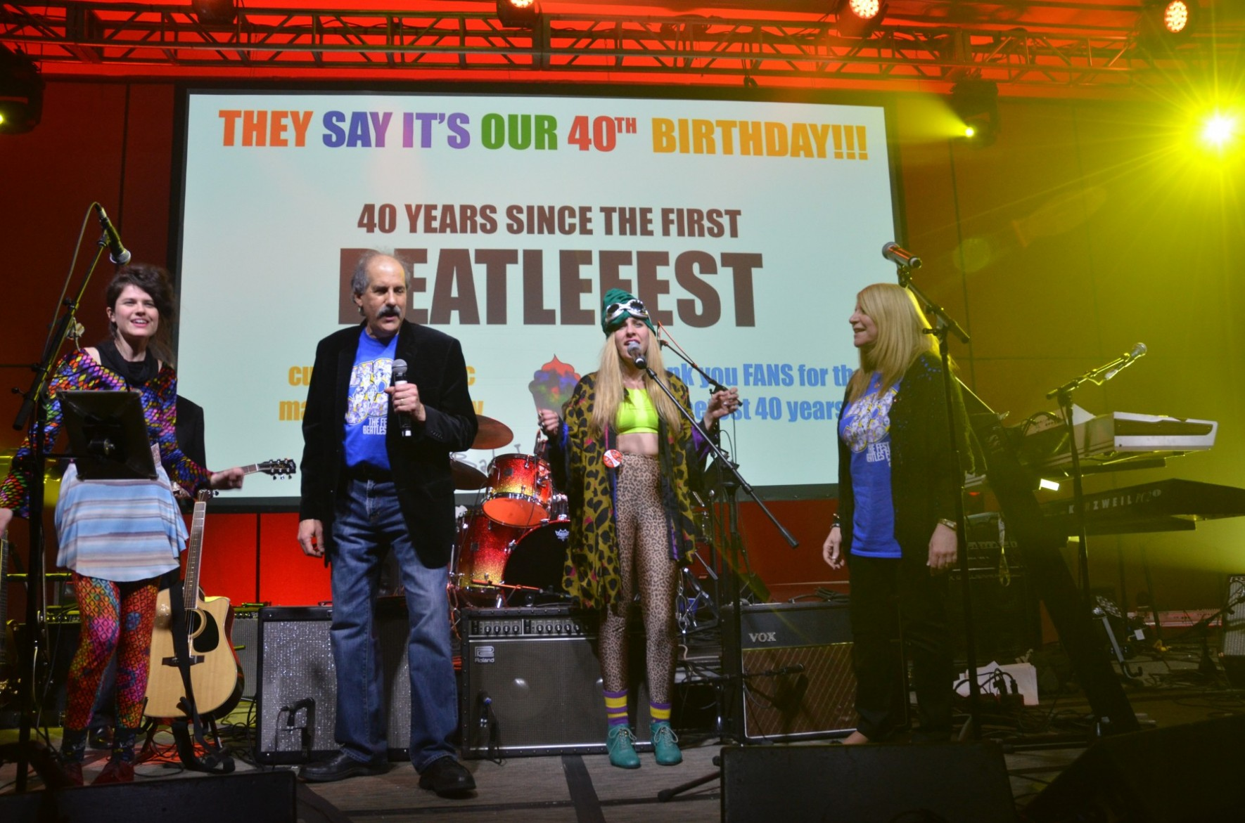"Liverpool belts out ""Birthday"" as the Lapidos family celebrates the 40th anniversary of the Fest on stage on Saturday night."